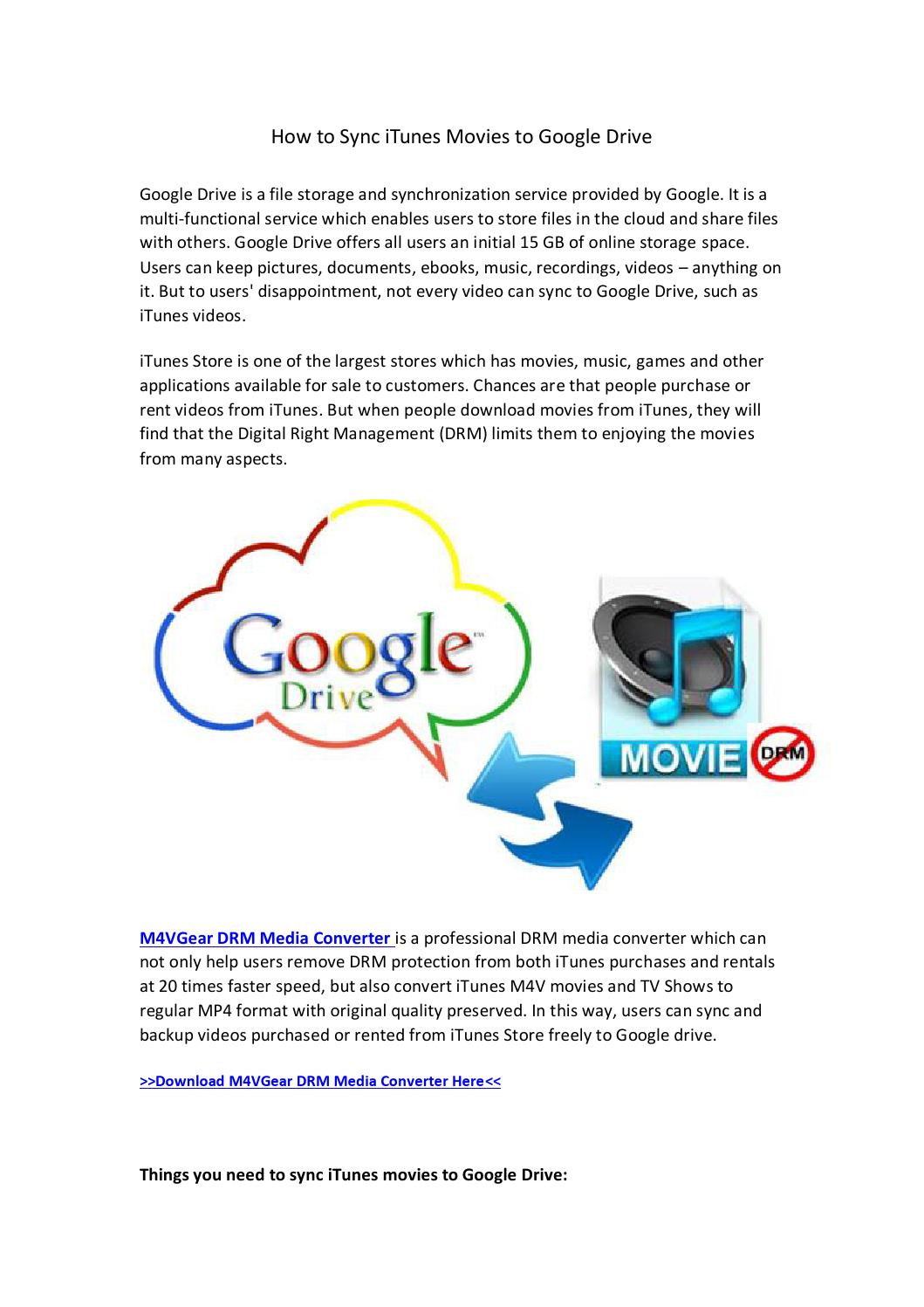 Back up iTunes videos with google drive by happy life - issuu