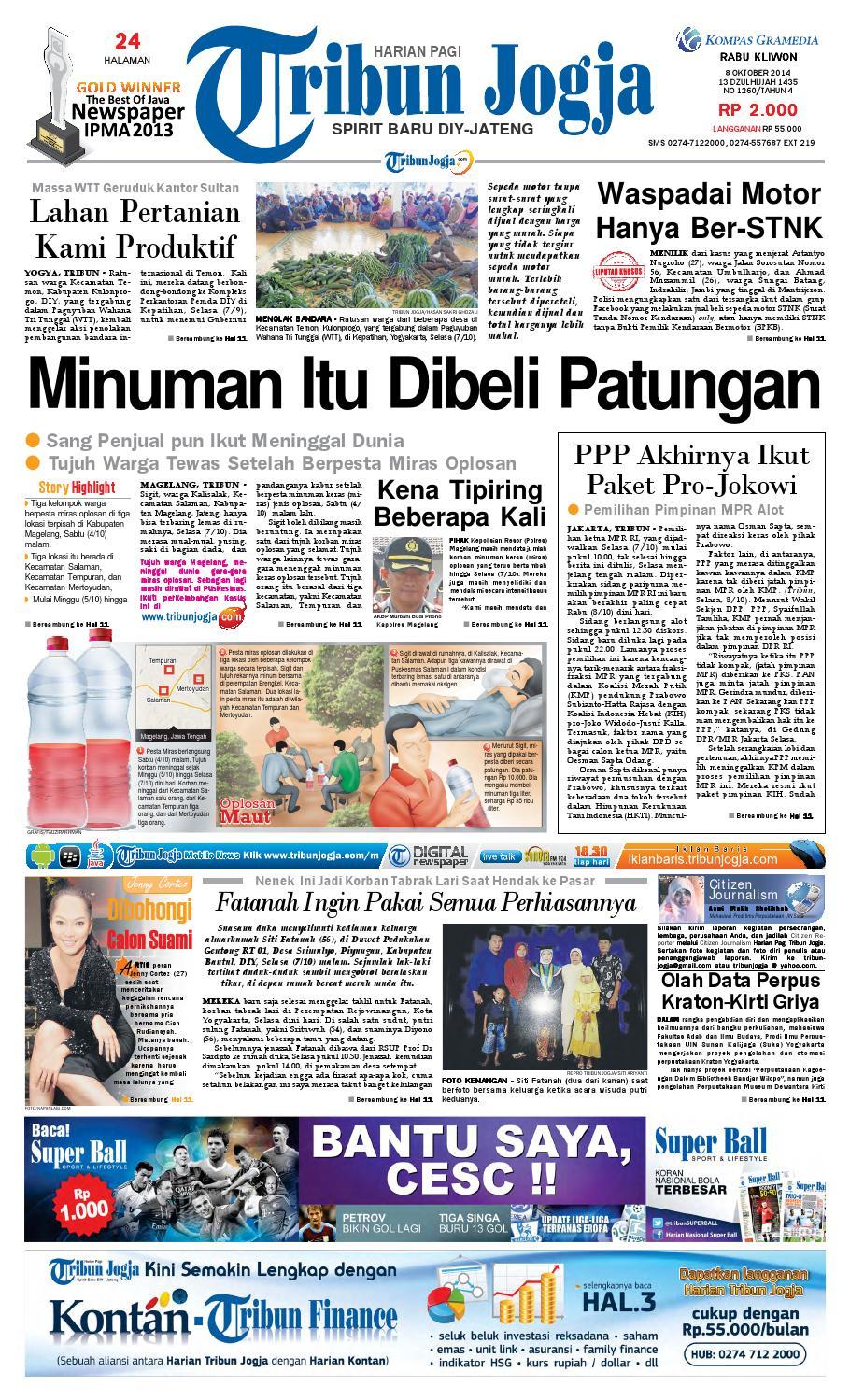 Tribunjogja 08 10 2014 By Tribun Jogja Issuu Produk Ukm Bumn Mahkota Papua Bin Syowi