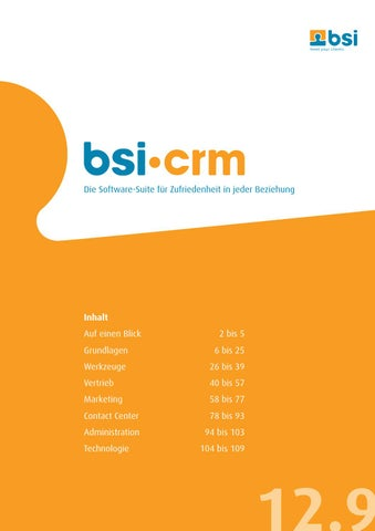 Bsi Crm 12 9 By Bsi Business Systems Integration Ag Issuu