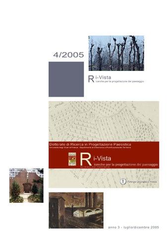 Ri-Vista Ricerche per la progettazione del paesaggio ISSN 1724-6768  Università degli Studi di Firenze 88ec0399fbb
