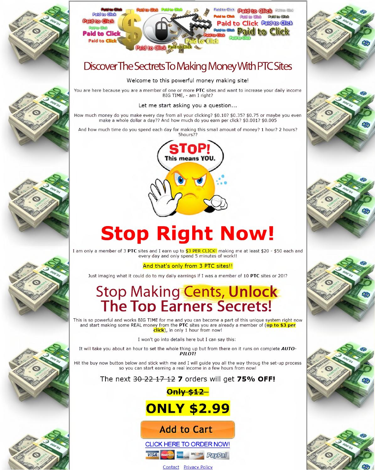 How to make 3 us dollar per click from CPC PTC website