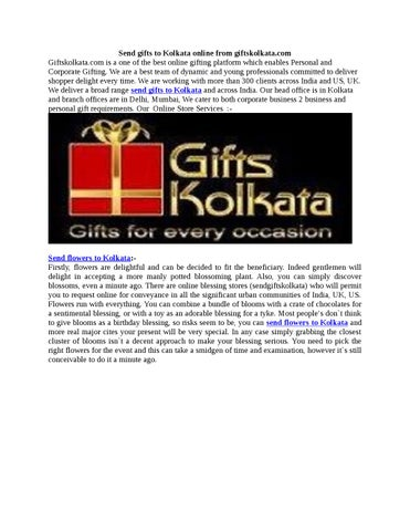 Send gifts and sweets to kolkata