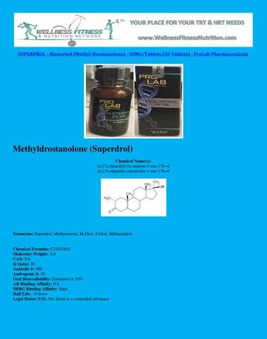 Superdrol masterbol (methyl drostanolone) 50mg tablets (50