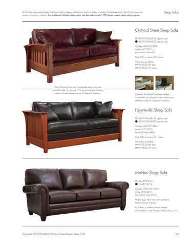 All Stickley Sleep Sofas Feature The Finest Quality Sleeper Mechanism Which  Includes A Locking TV Headrest And A 5 Inch Thick Premium Quality  Innerspring ...