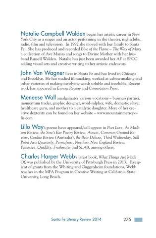 Santa Fe Literary Review 2014 by Santa Fe Community College - issuu