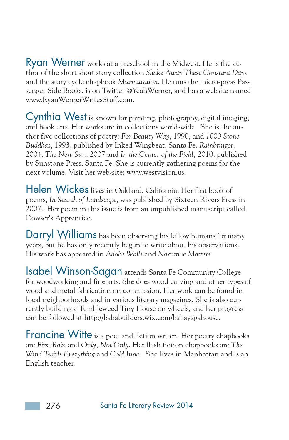 Santa Fe Literary Review 2014 by Santa Fe Community College