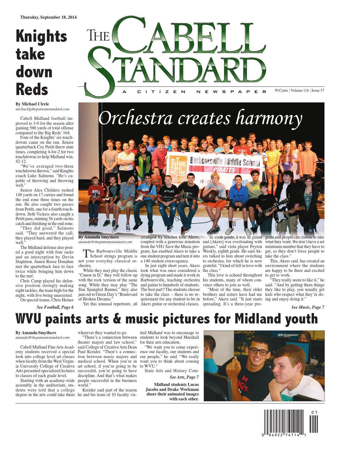 The Cabell Standard, Sept  18, 2014 by PC Newspapers - issuu