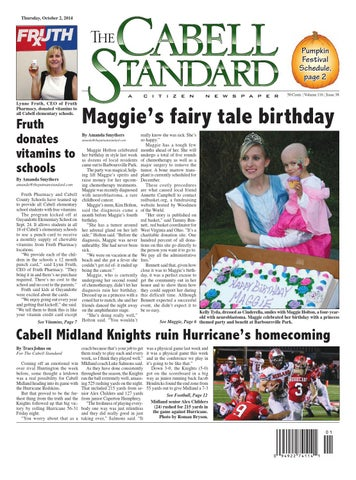 The Cabell Standard Oct  2, 2014 by PC Newspapers - issuu