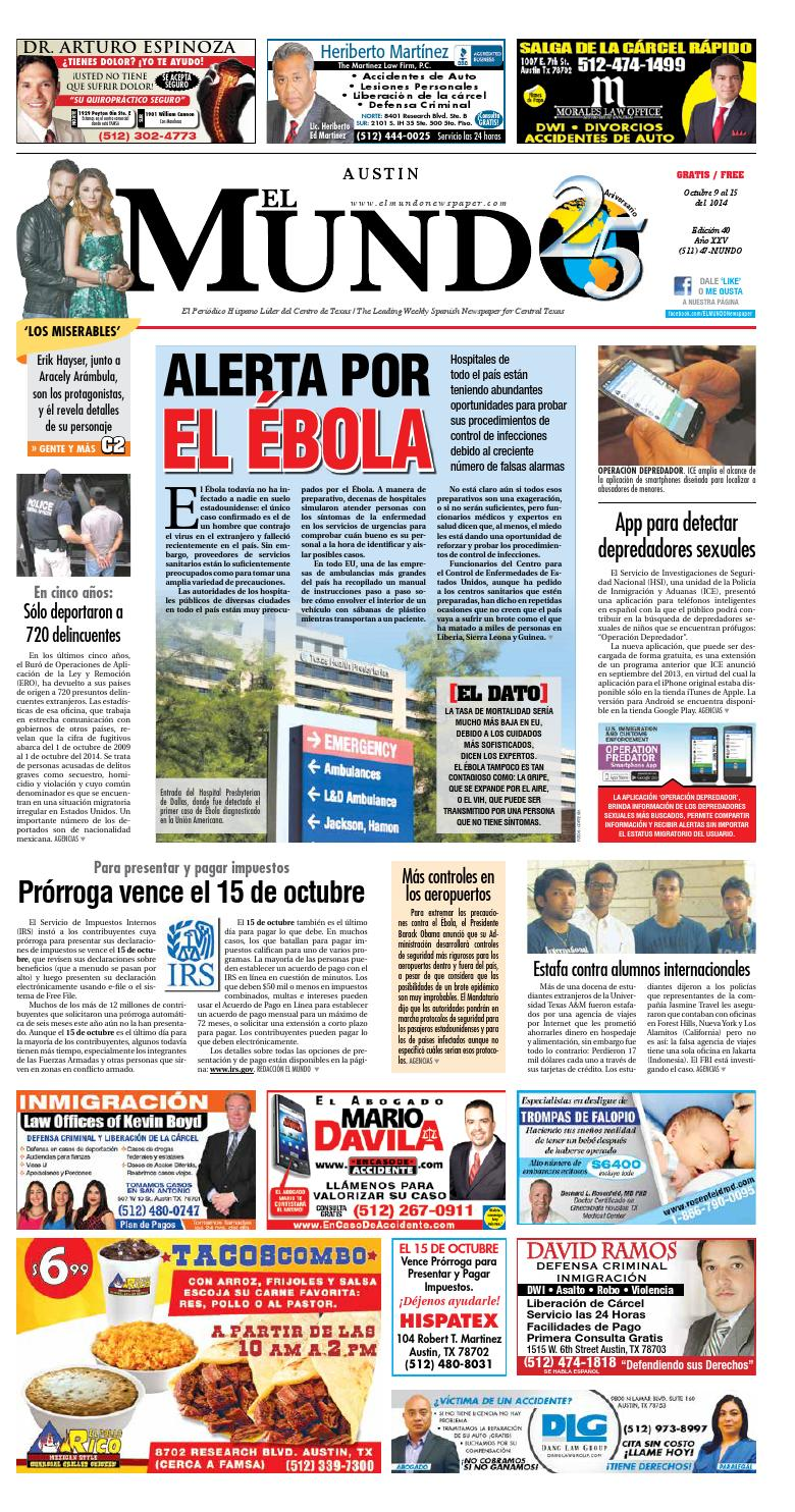 El Mundo Newspaper Austin 40 by El Mundo Newspaper - issuu
