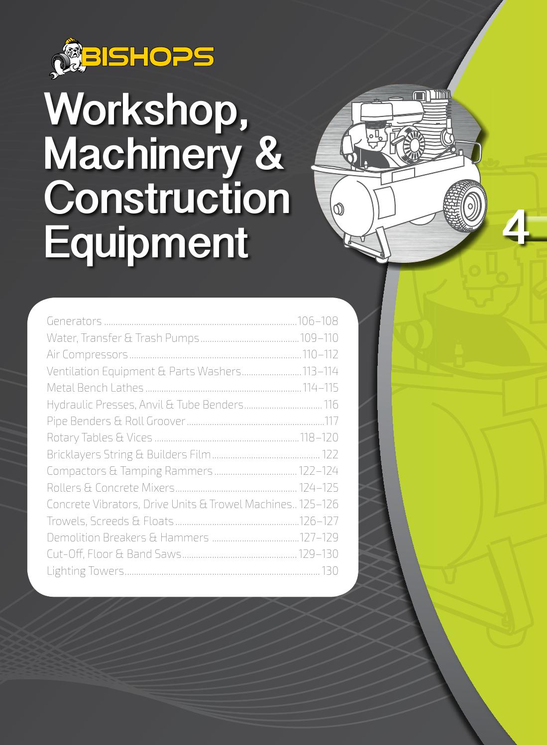 Bishops Workshop Machinery Construction Equipment By Atom Issuu Champion 196cc Wiring Diagram