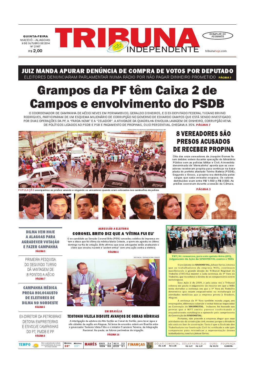 Edição número 2167 - 9 de outubro de 2014 by Tribuna Hoje - issuu 6cf3c27a948e0