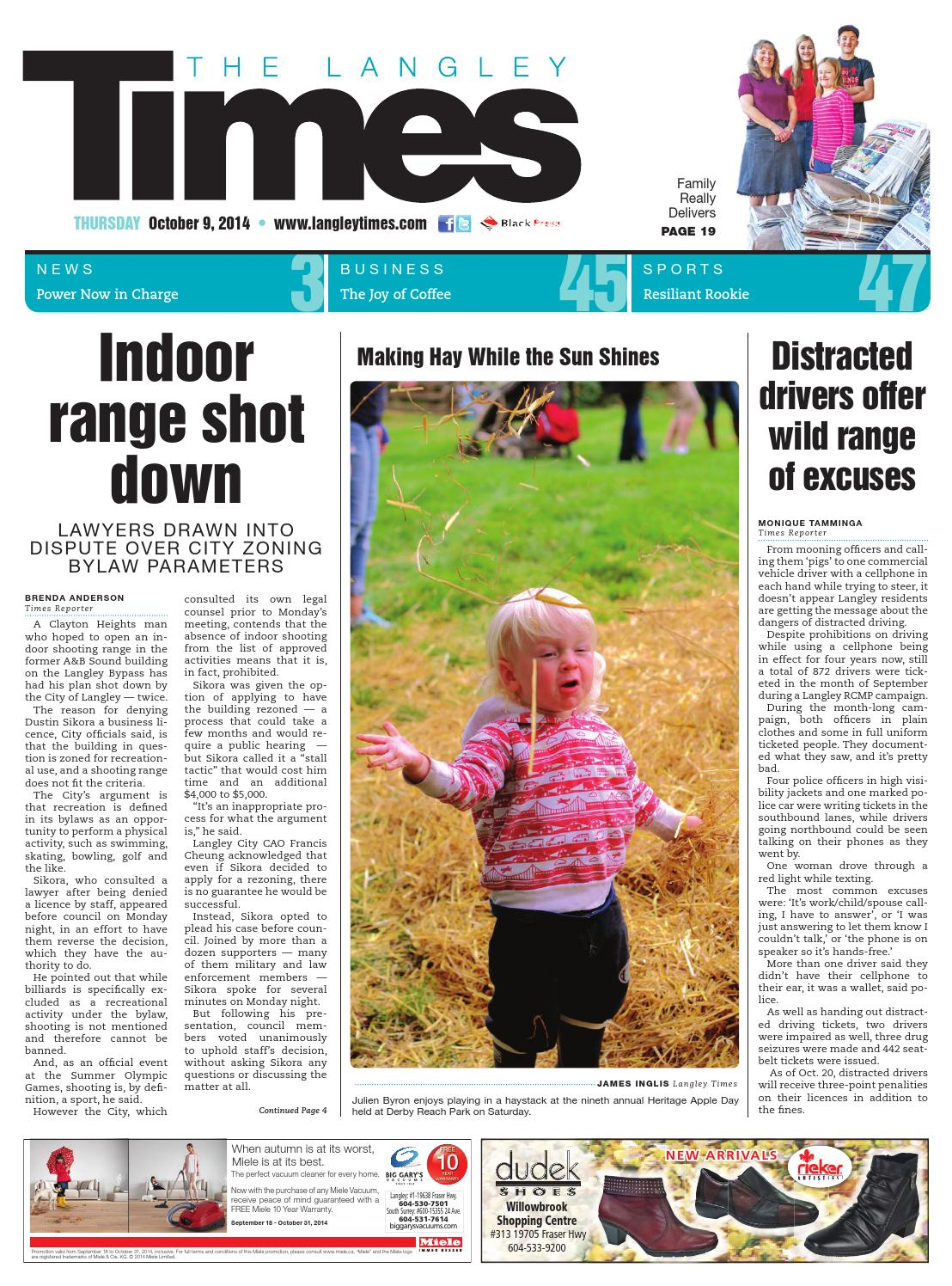 Langley Times, October 09, 2014 by Black Press - issuu on