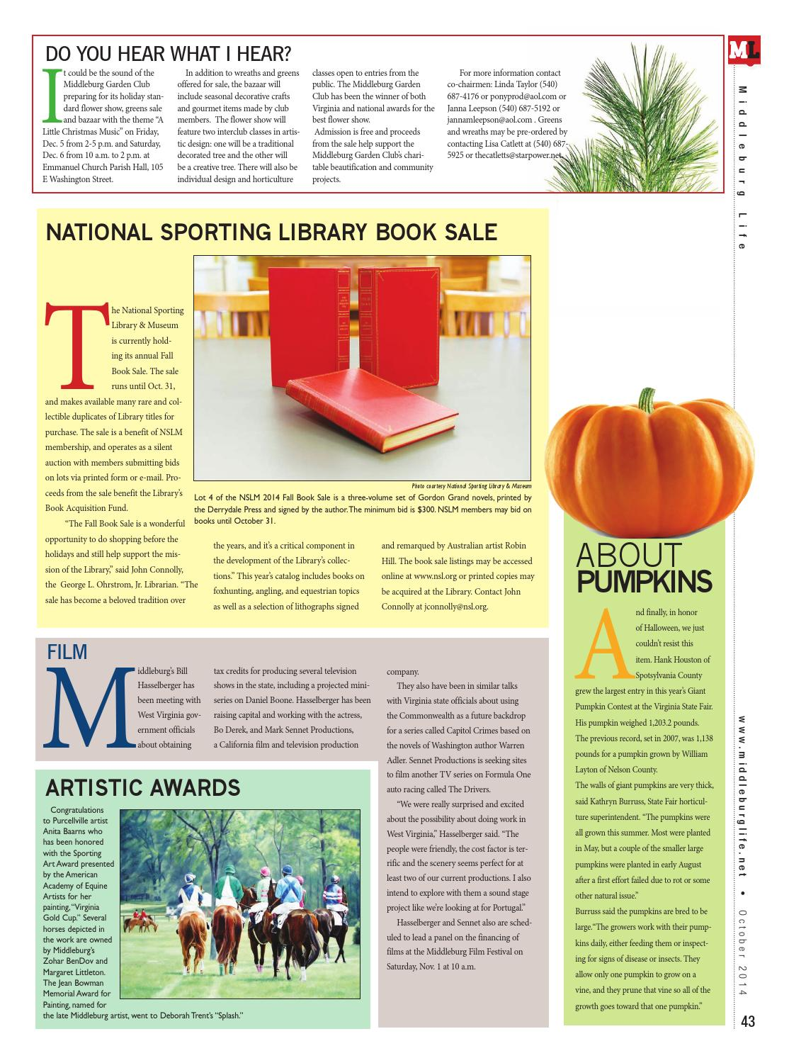 Middleburg Life October 2014 by InsideNoVa - issuu