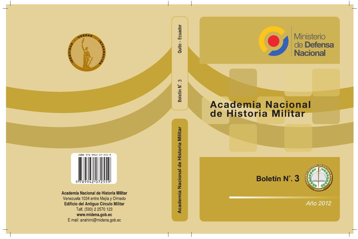 Boletín 3 de la Academia Nacional de Historia Militar by Academia ...