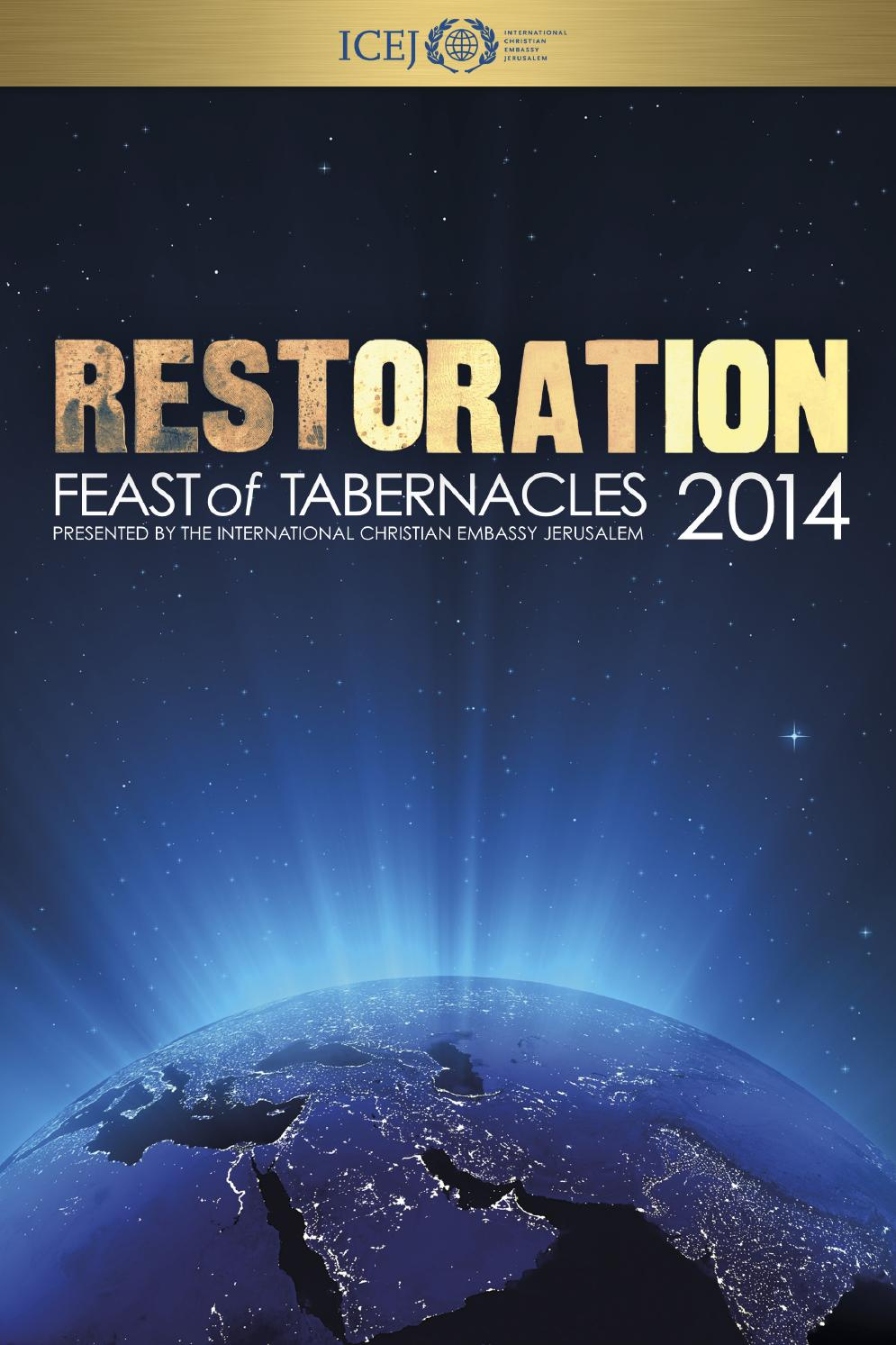 Feast Of Tabernacles 2014 Official Program By Icej Issuu