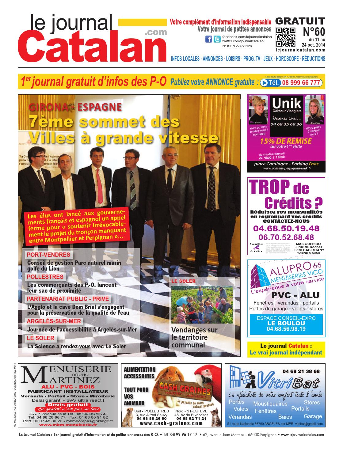 le journal catalan n 60 premier journal gratuit d 39 informations et de petites annonces des p o by. Black Bedroom Furniture Sets. Home Design Ideas