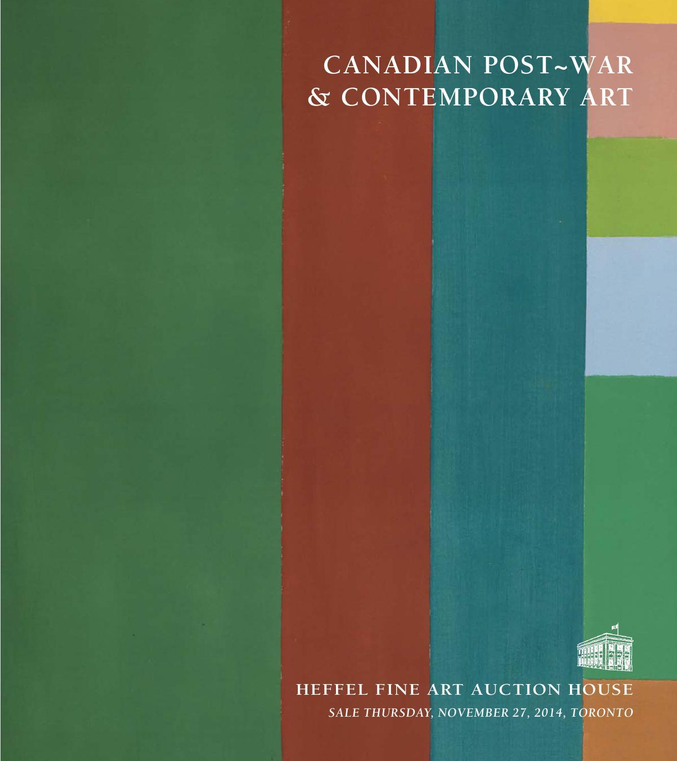 Canadian Post~War & Contemporary by Heffel Fine Art Auction