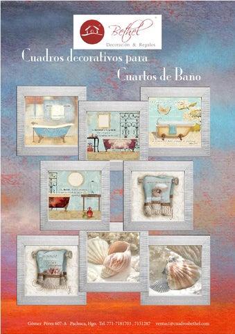 Cuadros para cuartos de ba o by bethel cuadros issuu for Cuadros de bano