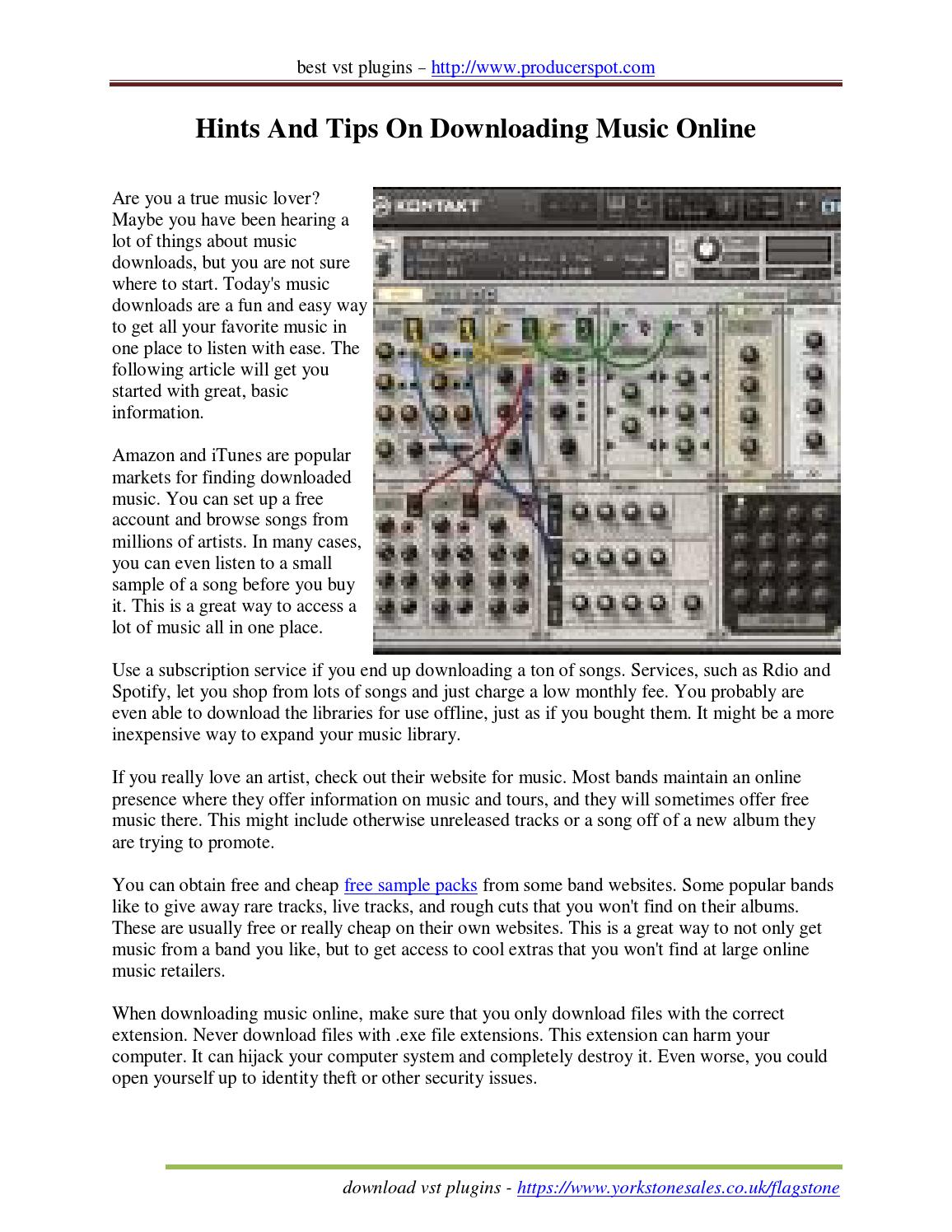 Hints and tips on downloading music online by RosariaOyola - issuu