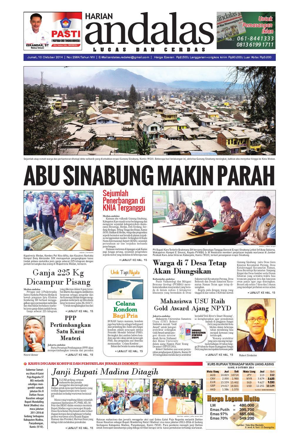 Epaper Andalas Edisi Jumat 10 Oktober 2014 By Media Issuu Fcenter Lemari Pakaian Wd Hk 1802 Sh Jawa Tengah