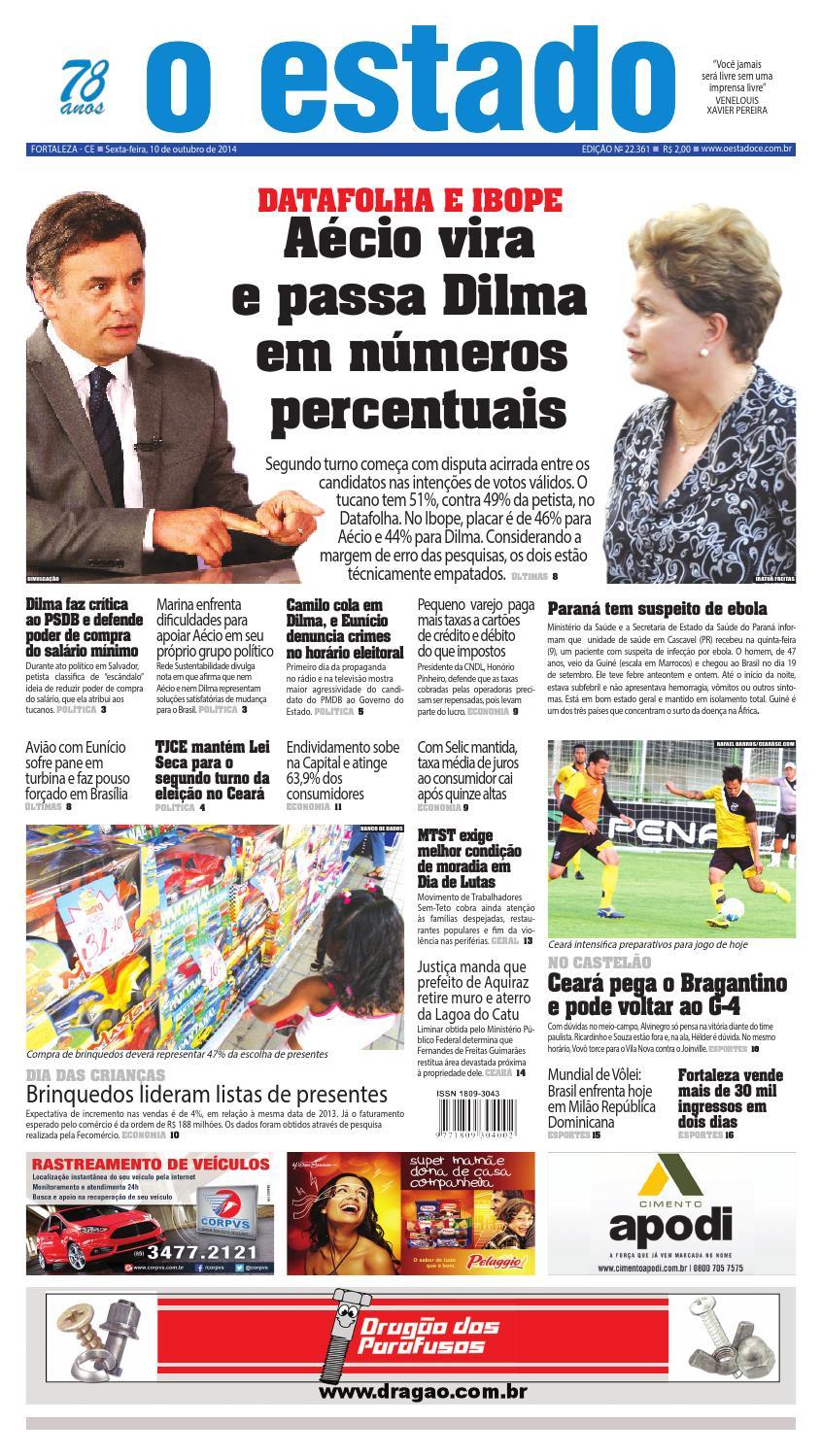 Edição 22361 - 10 de outubro de 2014 by Jornal O Estado (Ceará) - issuu cd40988e2a2ee