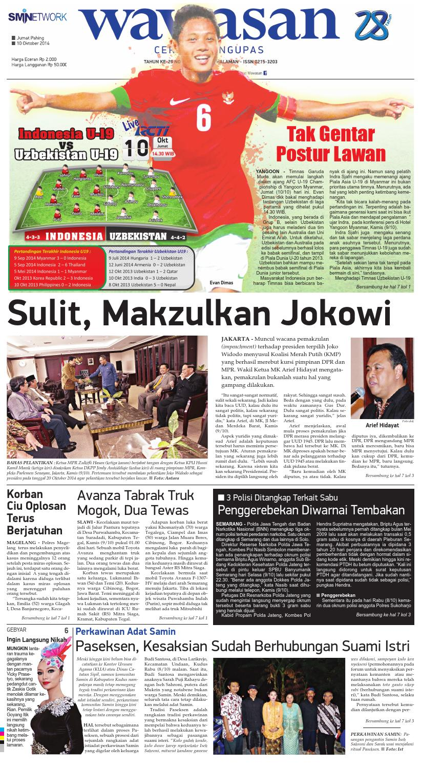 Wawasan 10 Oktober 2014 By Koran Pagi Issuu Produk Ukm Bumn Barbekyu Kelitik Surabaya