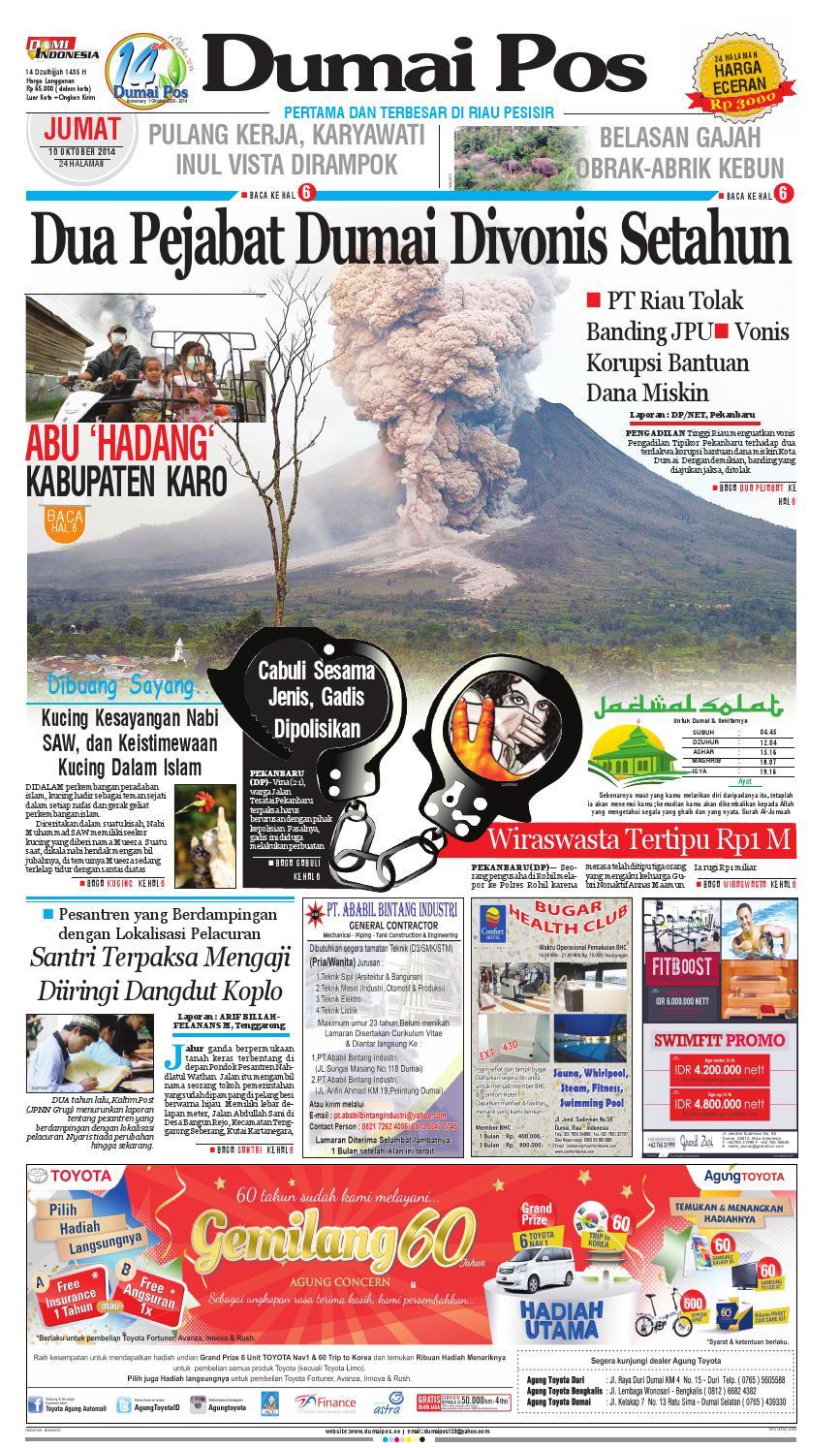 Dumaipos 10 Oktober 2014 By Dumai Pos Issuu Produk Ukm Bumn Sambal Bawang Goreng Maklin