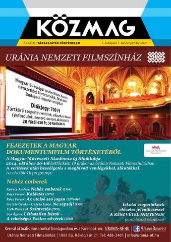"""Cover of """"2014 09 közmag budapest"""""""