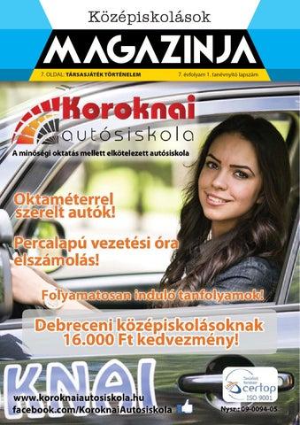 """Cover of """"2014 09 középiskolások magazinja debrecen"""""""