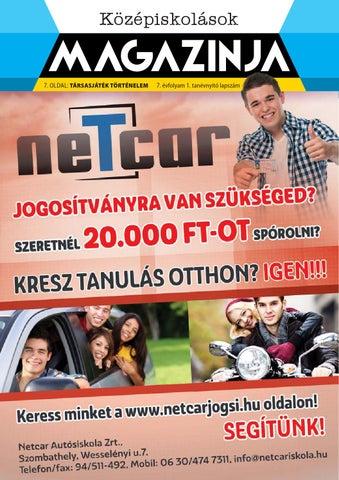 """Cover of """"2014 09 középiskolások magazinja szombathely"""""""
