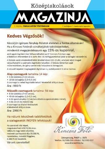 """Cover of """"2014 09 középiskolások magazinja zalaegerszeg"""""""