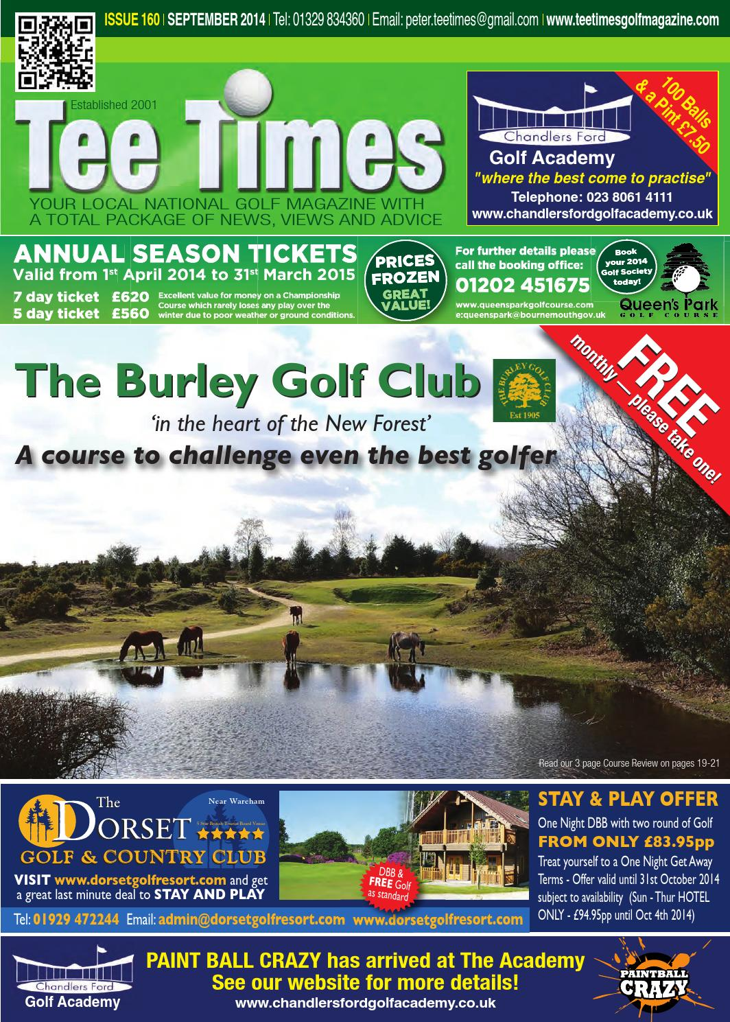 Tee Times Golf Magazine - September 2014 by Tee Times Golf ...