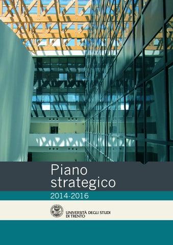 Piano Strategico 20014-2016 by University of Trento - issuu 93ec9f0f95ad