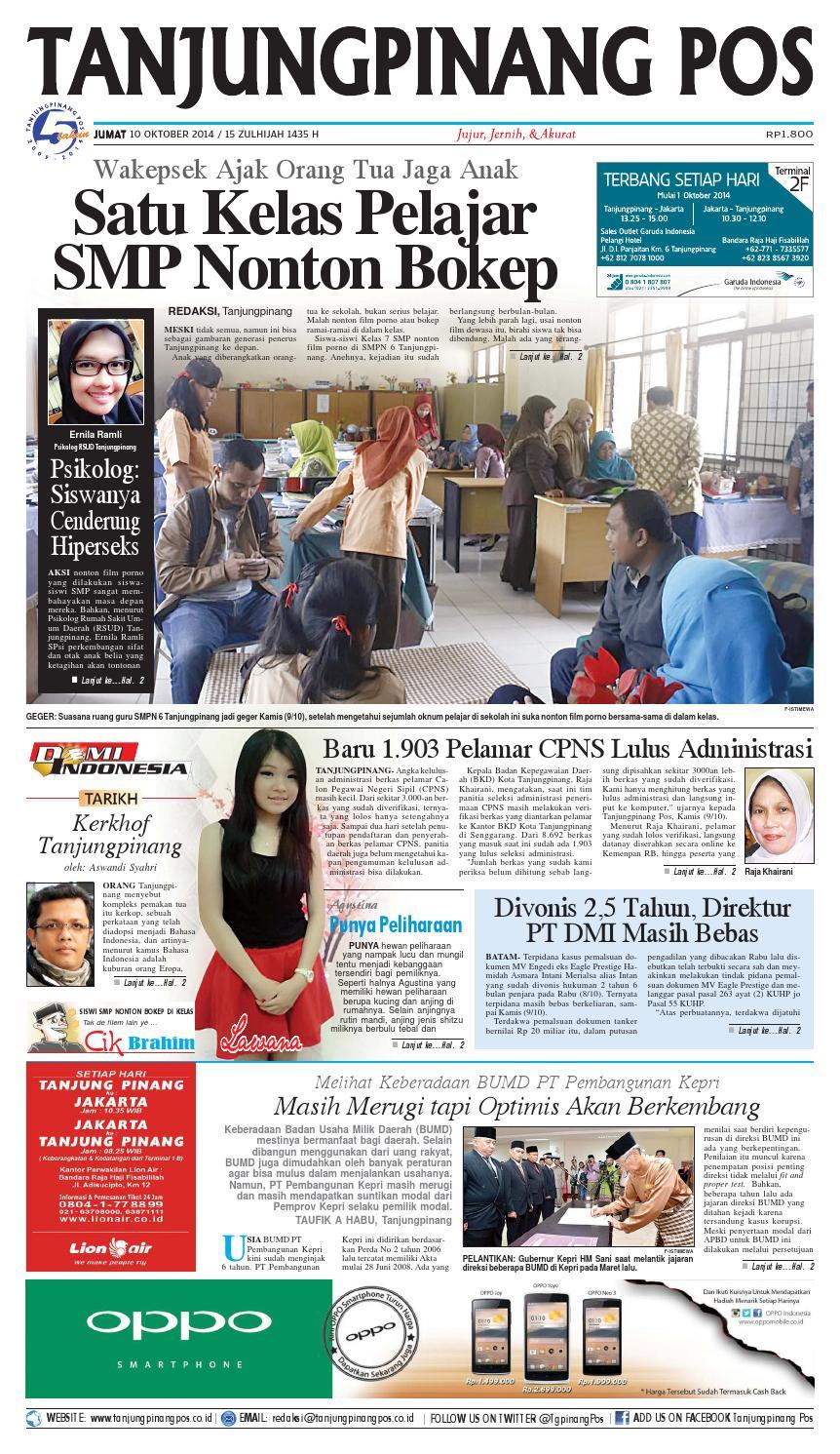 Epaper Tanjungpinangpos 10 Oktober 2014