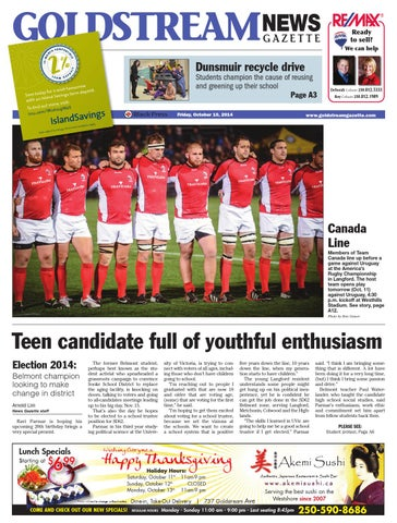 Goldstream News Gazette October 10 2014 By Black Press