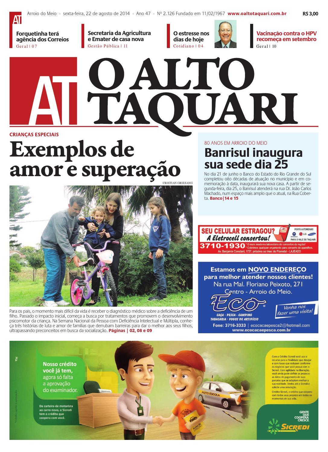 ecd9d01f3ba Jornal O Alto Taquari - 22 de agosto de 2014 by Jornal O Alto Taquari -  issuu