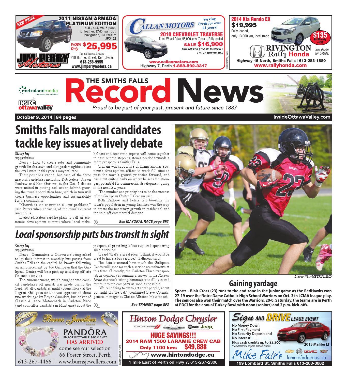 Smithsfalls100914 by Metroland East - Smiths Falls Record News - issuu 1e68fe615e3b9