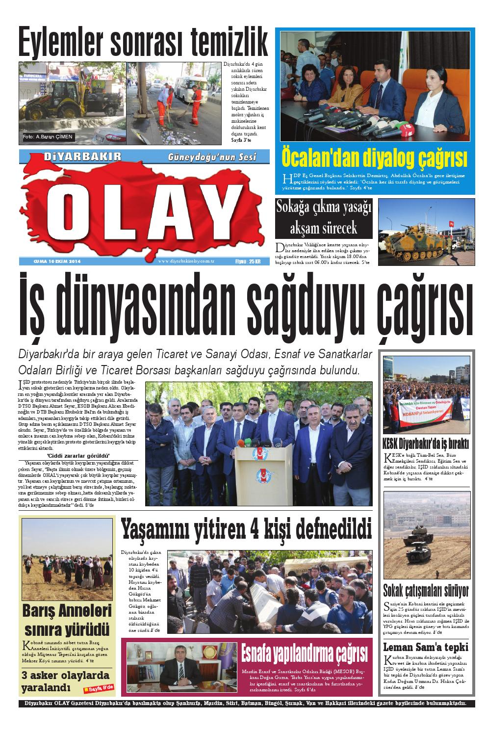 10 10 2014 Gazete Sayfalari By Diyarbakir Olaygazetesi Issuu