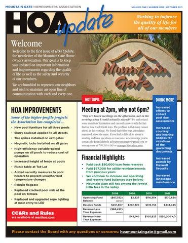 Mountain Gate Hoa Newsletter Design By Scott A