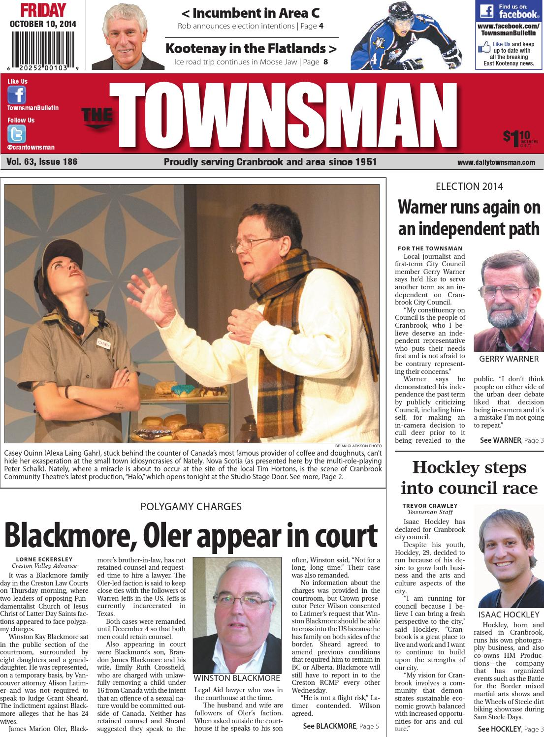 Cranbrook Daily Townsman, October 10, ...