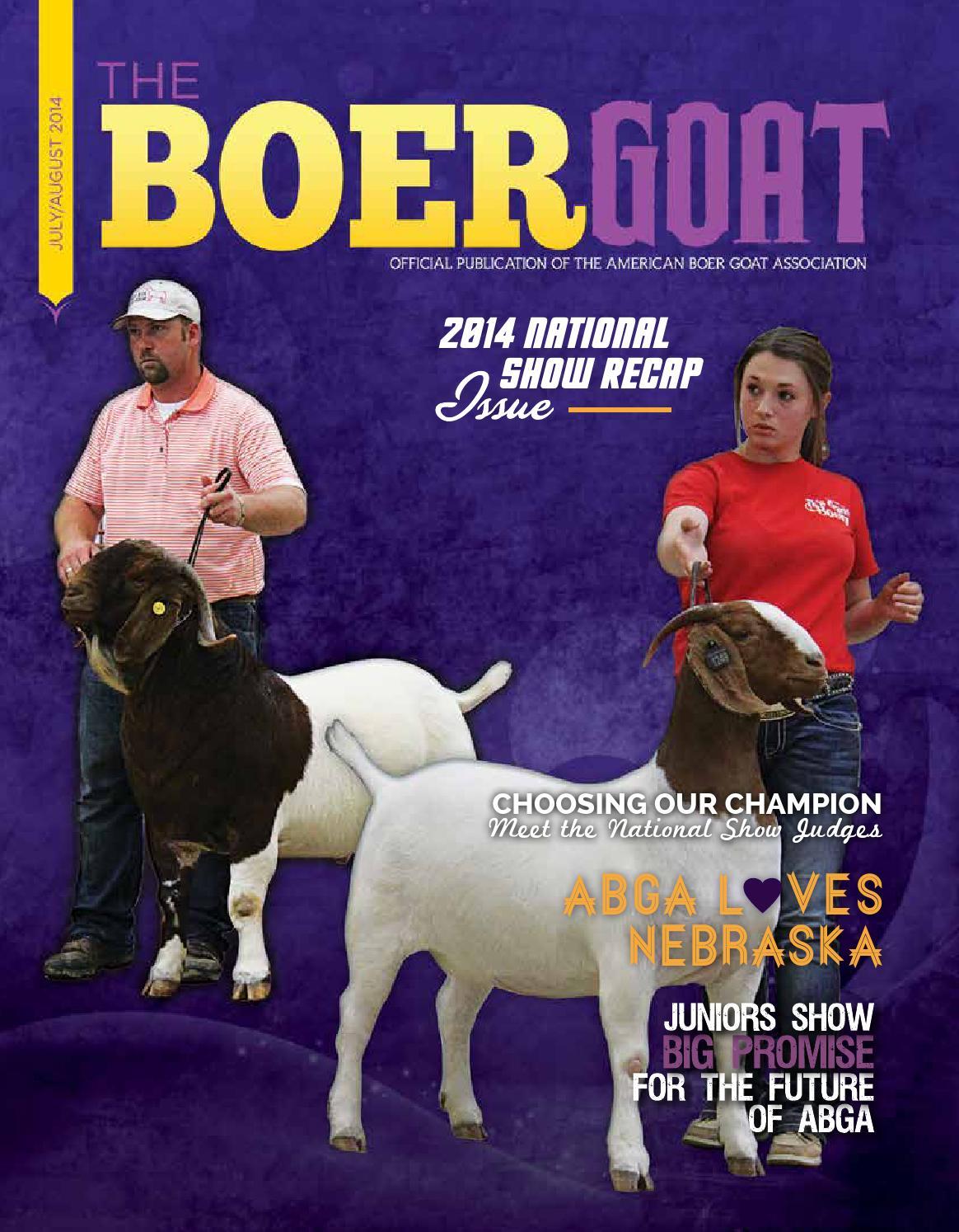 The Boer Goat - July/August 2014 by American Boer Goat ... - photo#39