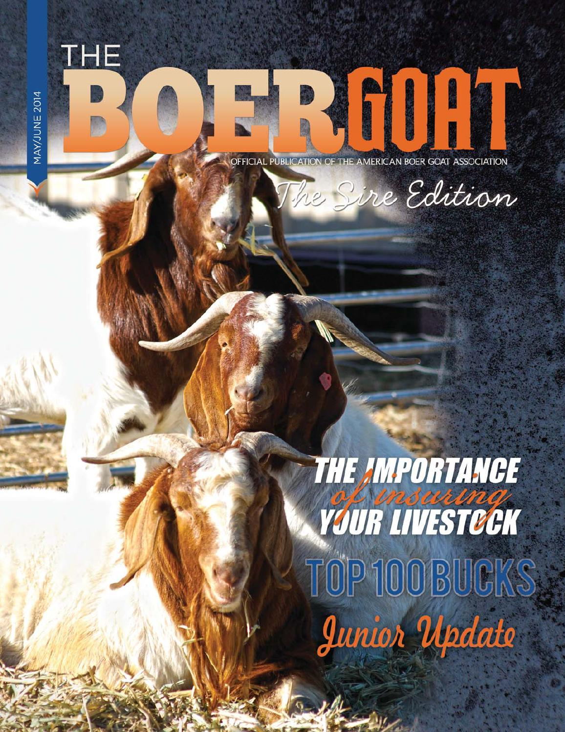 The Boer Goat - May/June 2014 by American Boer Goat Association - issuu