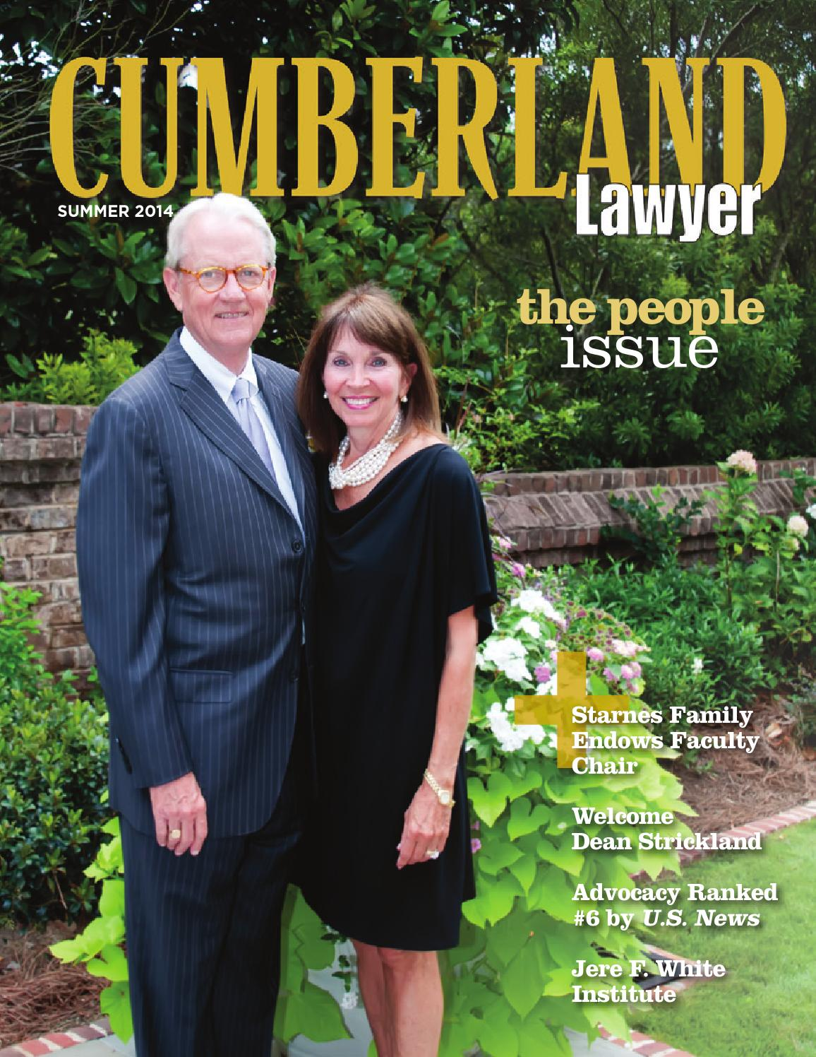 The Cumberland Lawyer Summer 2014 By Samford University S