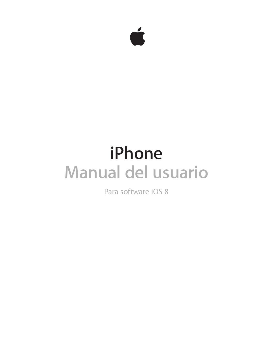 Iphone manual del usuario ios 8 by COTEL Comercial Telefónica S.L. ...