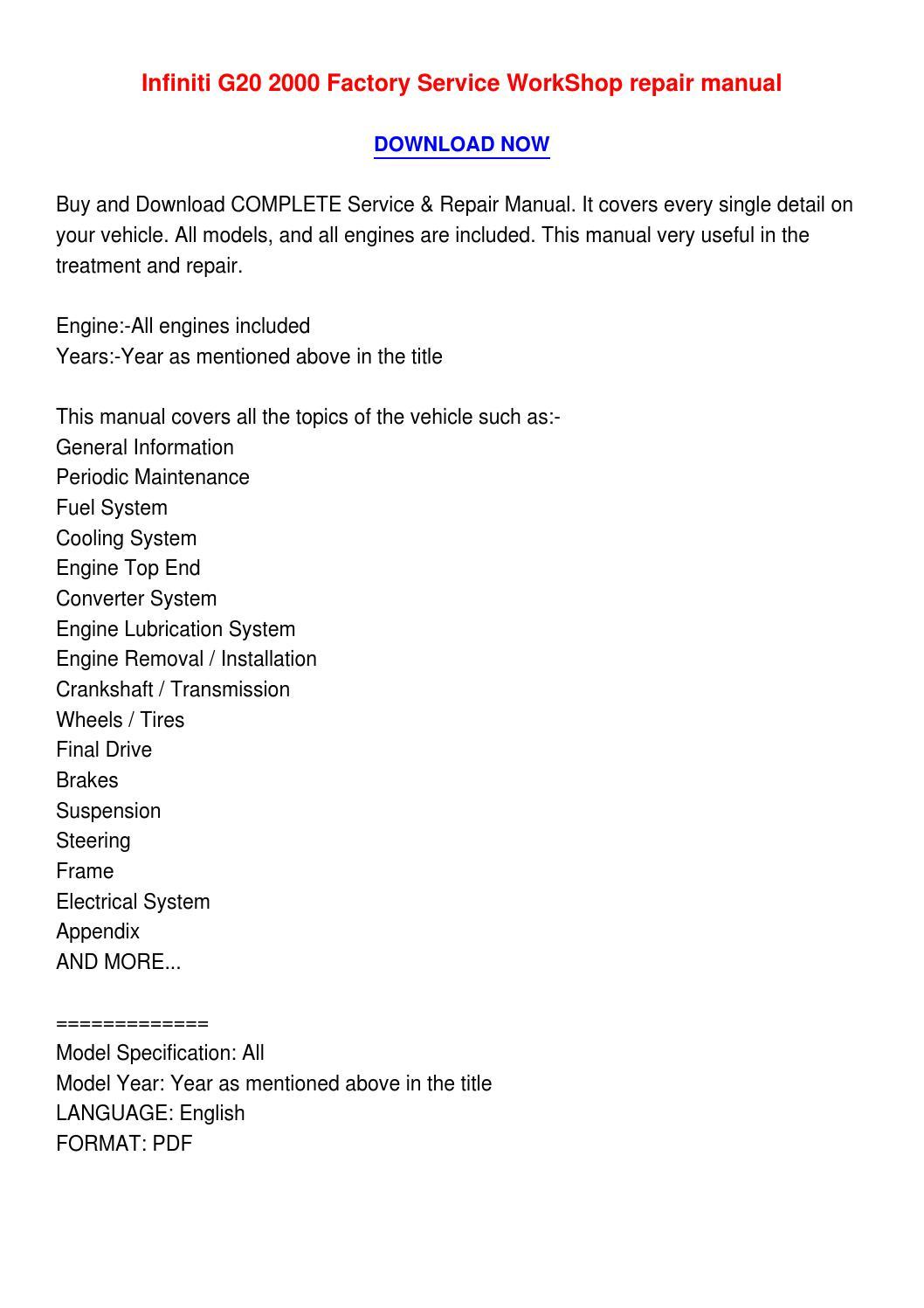 Page on 2000 Infiniti G20 Suspension