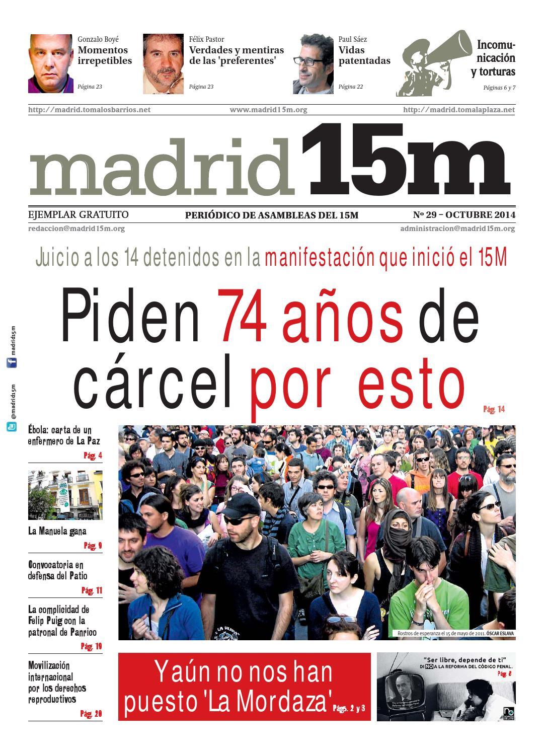 Madrid15m nº 29, octubre 2014 by madrid15m periódico - issuu