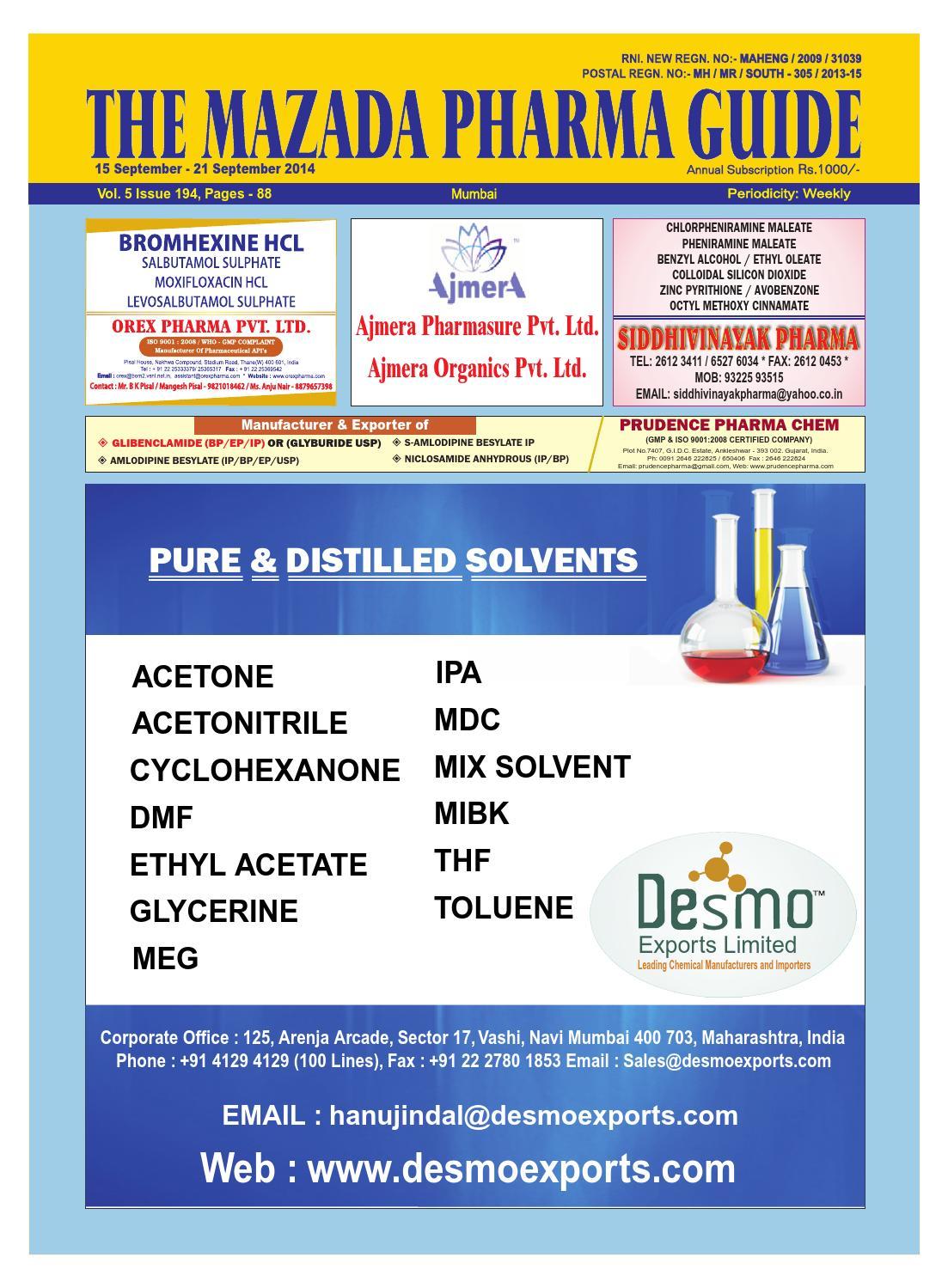 The Mazada Pharma Guide 15th Sep 21th Sep 2014 by The Mazada Pharma