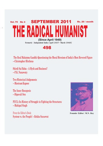 Radical Publications 150 By The Radical Humanist Issuu