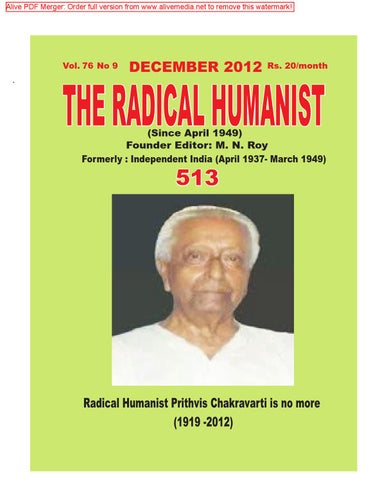 Radical Publications 182 By The Radical Humanist Issuu