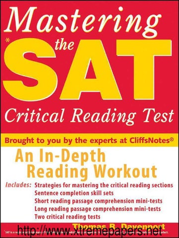 Mastering the sat critical reading test by Osman Yavasca - issuu
